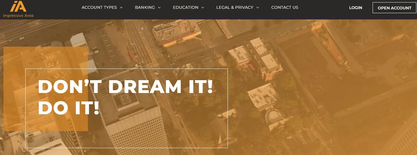 Impressive Area website