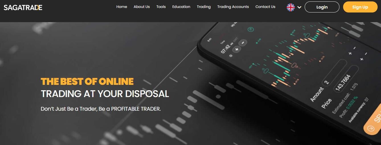 SagaTrade website